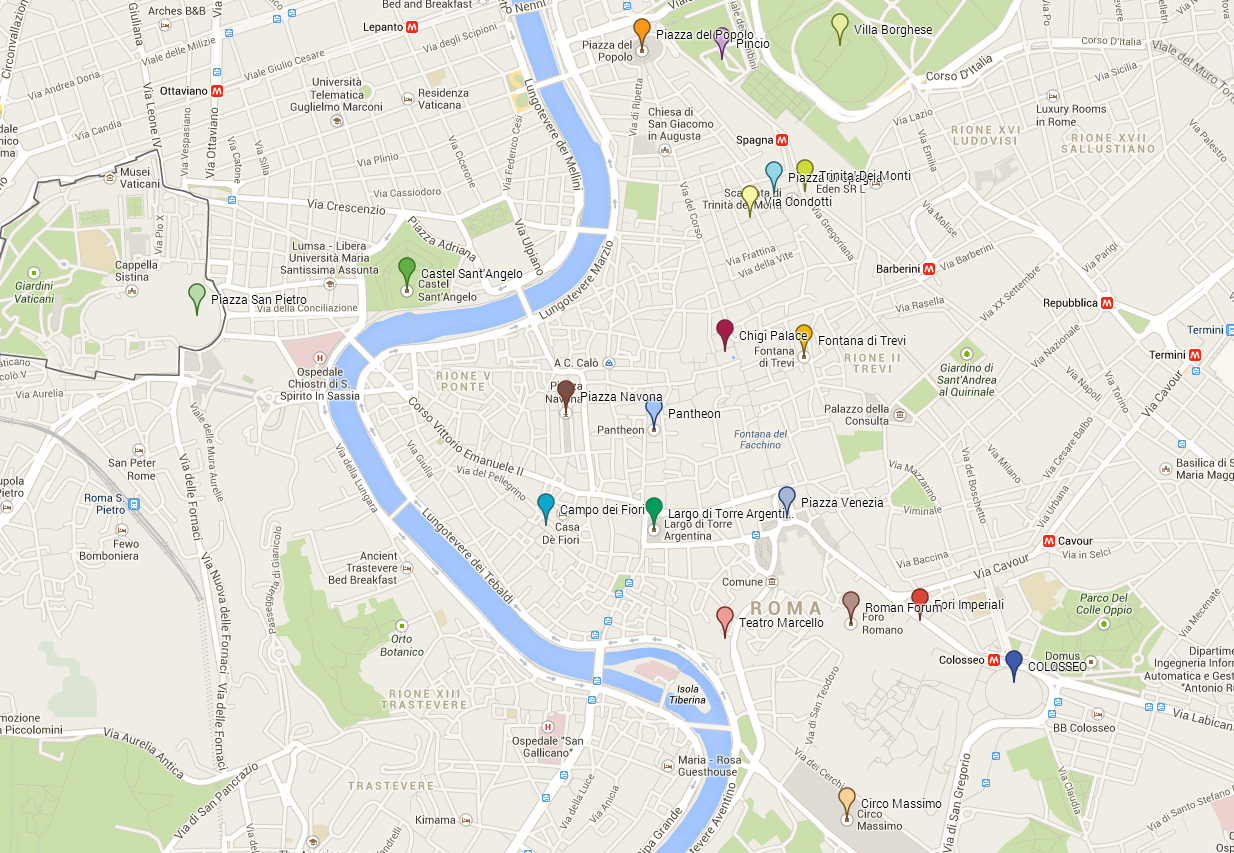Tour map - segway Roma
